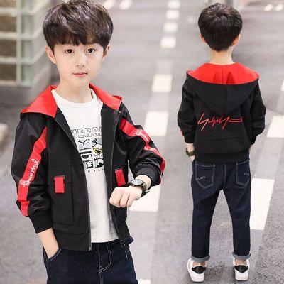 男童外套春秋装2020新款风衣夹克开衫棒球服儿童中大童韩版休闲