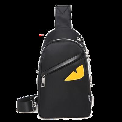 新款小天使胸包男士单肩包女斜挎包韩版潮帆布小背包学生潮牌包包
