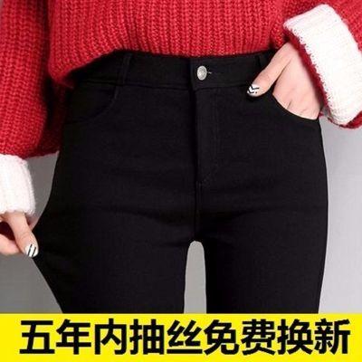 2020春秋黑色打底裤女外穿薄款高腰紧身小脚魔术裤弹力显瘦铅笔裤