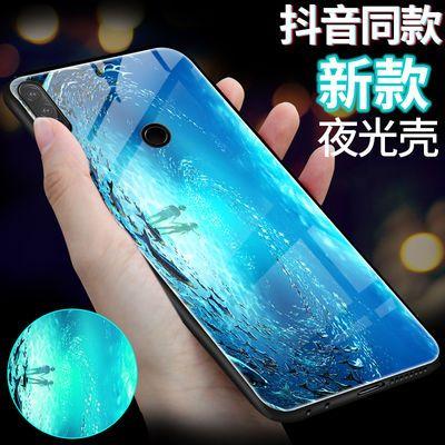华为nova4e玻璃夜光手机壳华为nova4e/MAR-AL00保护套抖音同款潮