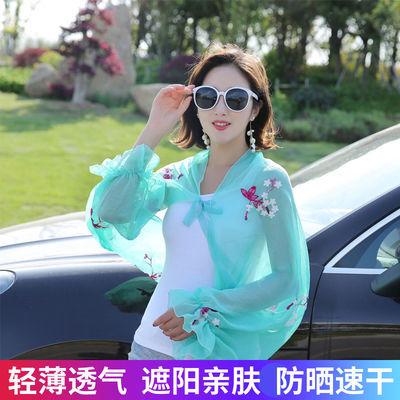 披肩女夏季外搭上衣雪纺防晒衣开衫女夏短款外套宽松防紫外线披风
