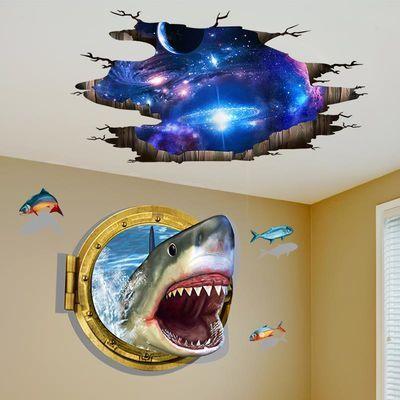 3D立体墙贴画房间床头装饰贴纸卧室创意墙壁纸自粘海报纸宿舍墙纸