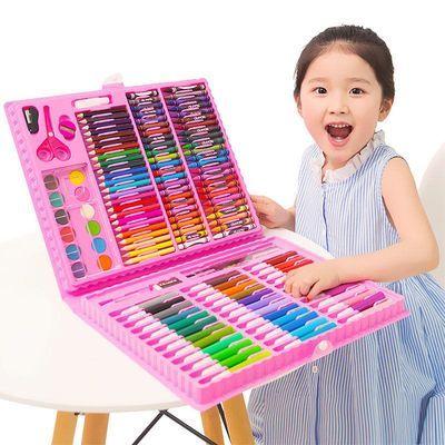 儿童水彩笔套装绘画套装画画工具画笔铅笔蜡笔绘画本彩笔画笔涂鸦