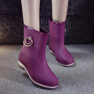 雨盾雨鞋女短筒成人雨靴四季中筒加绒棉防水鞋秋夏防滑牛筋底水靴