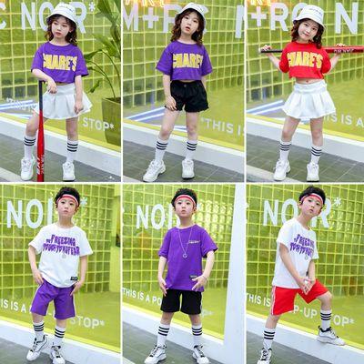 六一儿童街舞套装女童啦啦操爵士舞表演男童嘻哈拉拉队演出服装潮