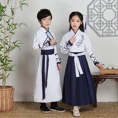 儿童古装汉服班服国学服男童三字经弟子规女童演出服书童表演服装