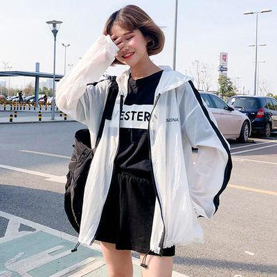 2019新款防晒衣女韩版春夏季bf薄款学生宽松透气百搭防晒服短外套