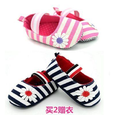 婴儿学步鞋毛线鞋子宝宝软底室内男女儿童鞋平底棉布地板运动防滑