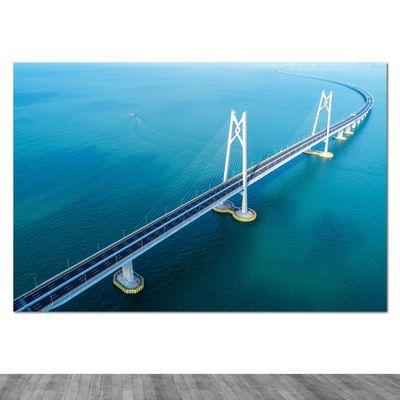 港珠澳大桥墙贴名桥建筑风景海报桥梁跨海大桥壁画吊桥索桥装饰画
