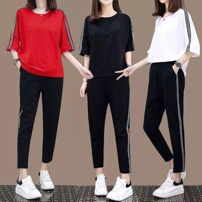 2020运动套装夏装时尚韩版夏天休闲卫衣两件套运动服女春秋