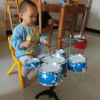 大号儿童玩具架子鼓初学者敲打宝宝小孩爵士鼓音乐器吉他益智3岁