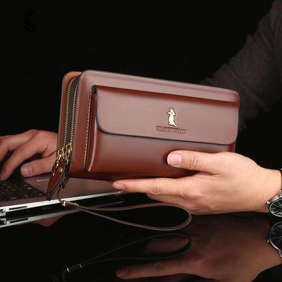 【牛皮手包】男士手包真皮质感手抓包多卡位牛皮手机包大容量钱包