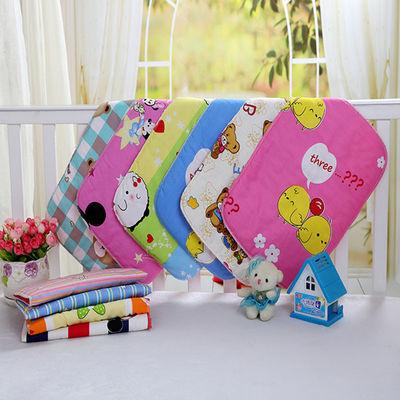 婴儿纯棉隔尿垫斜纹夹棉吸水透气可洗小号宝宝尿片新生儿护理床垫