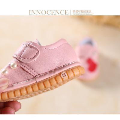秋女男宝宝布鞋0-1岁软底学步鞋叫叫鞋婴儿防滑踢会响带哨子单