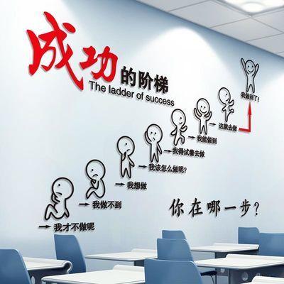 励志墙贴纸海报纸办公室房间装饰品贴画教室布置文化墙纸自粘墙面