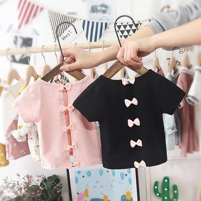 女宝宝t恤短袖夏季新款露背纯棉1-2-3-4-5岁儿童婴幼儿女童上衣潮