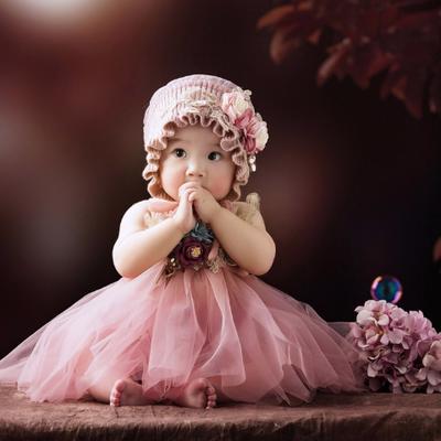 新款儿童摄影服装1-2岁宝宝 周岁影楼百天拍照写真服饰主题公主裙