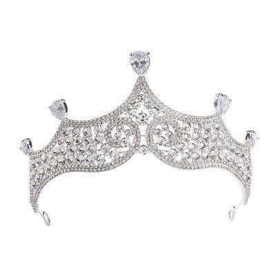 新娘结婚头饰皇冠生日礼物公主婚纱配饰王冠写真黑白可选HG824