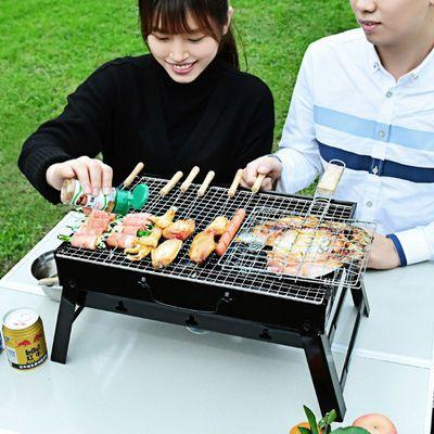 户外木炭烧烤架全套家用烤串炉小号烧烤炉子木炭烧炭野外烤肉工具