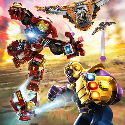 乐高复仇者联盟3超级英雄钢铁侠机甲积木灭霸反浩克装甲拼装玩具6