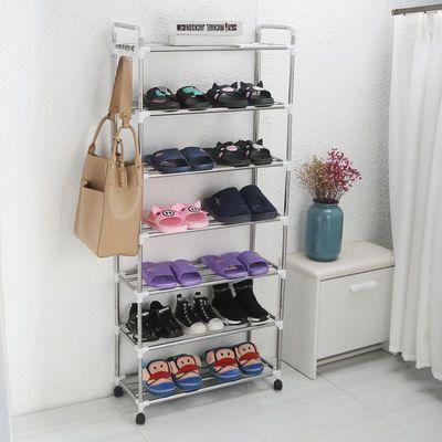 【送滑轮】不锈钢鞋架简易多层家用防尘经济型宿舍鞋架子收纳鞋柜