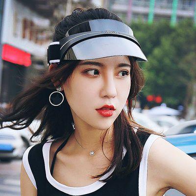 防晒帽子女夏季防紫外线遮阳帽韩版百搭时尚空顶帽户外出游太阳帽