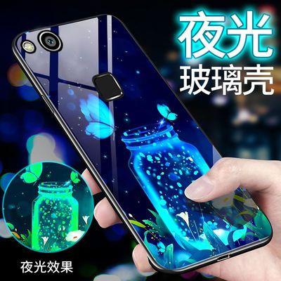 华为nova青春版手机壳玻璃华为nova青春版/WAS-AL00夜光保护套潮