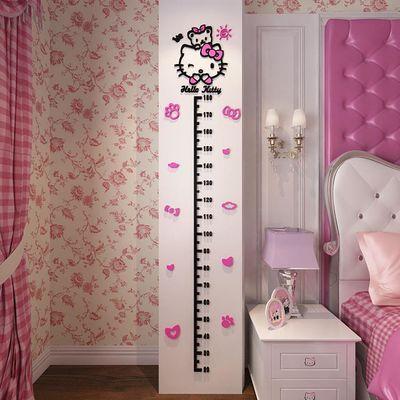 量身高墙贴测量仪3d立体可移除儿童贴纸装饰宝宝女家用可爱