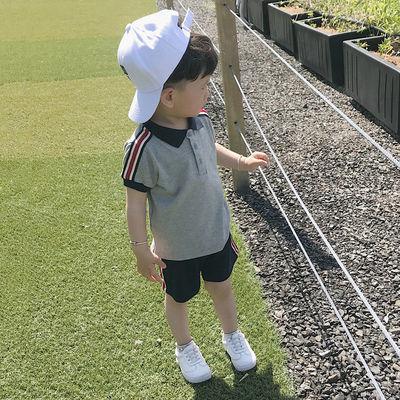 童装男童夏装套装2020新款韩版儿童短袖T恤男宝宝夏天运动两件套