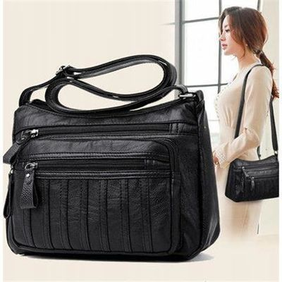中老年人女包包2019新款大容量单肩斜挎包女士背包中年妈妈软皮包
