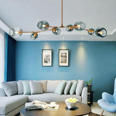 客厅吊灯北欧灯具简约现代网红分子灯魔豆灯创意个性卧室餐厅灯
