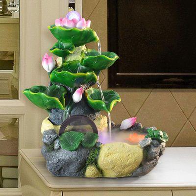 开业礼品假山流水喷泉办公室内客厅招财摆件风水轮盆景加湿器鱼缸