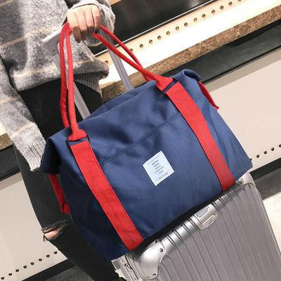 短途旅行袋女男轻便手提包韩版简约大容量健身单肩包行李袋拉杆包