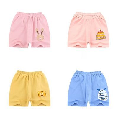 小童夏季短裤外穿纯棉可开档透气可爱运动裤老虎兔子儿童韩版男女