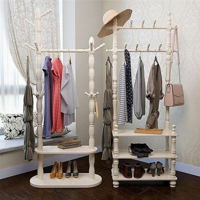 实木衣帽架落地卧室挂衣架欧式门厅置物架客厅衣服架现代简约衣架