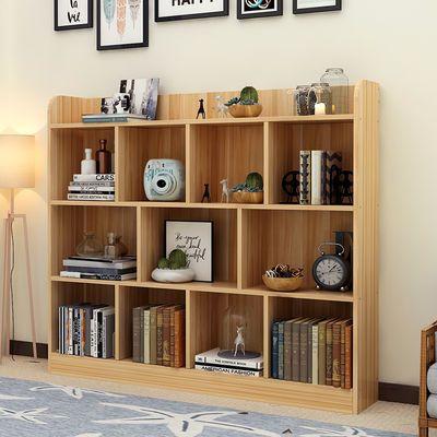 实木简易书架组合书柜置物柜儿童收纳落地储物柜桌面书柜创意书架