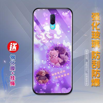 OPPOr17pro手机壳女OPPOr15/r9/r11splus/reno3/5g玻璃防摔男新款