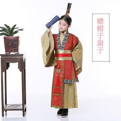 夏中国风儿童男童隋唐战国秦汉服丞相太子大臣官服舞台表演出服装