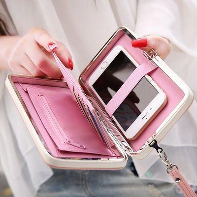 2020新款饭盒钱包女长款韩版学生多功能手拿包大容量时尚手机包潮