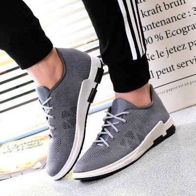 2020春季新款3D飞织透气健步运动休闲鞋透气男鞋