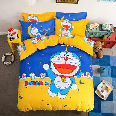床上儿童卡通加厚斜纹四件套亲肤宿舍三件套单双人床品被套4件套
