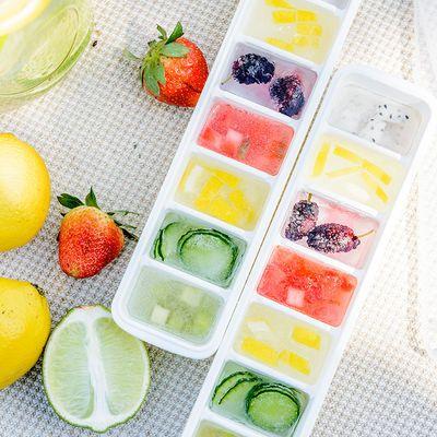 带盖方块冰格冰块盒 大号制冰盒制冰格子 冰箱冻冰块模具制作磨具