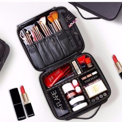 专业化妆包小号专业便携韩国简约可爱旅行大容量网红多功能收纳包