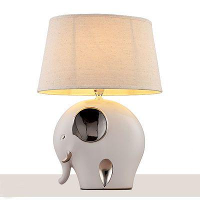 简约现代卧室床头灯家用浪漫温馨结婚礼物喂奶大象兔子陶瓷台灯