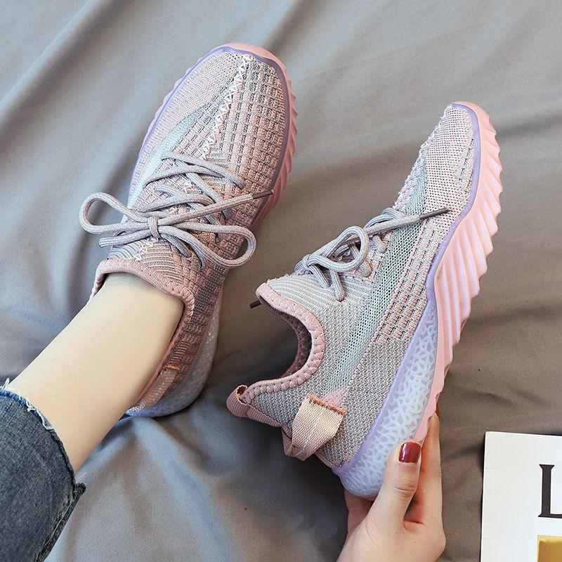 椰子鞋女春季新款透气飞织运动鞋女ins跑步鞋鞋子女学生韩版百搭