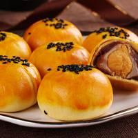 【官方正品】手工雪媚娘蛋黄酥肉松月饼馅饼糕点零食批发55g/枚