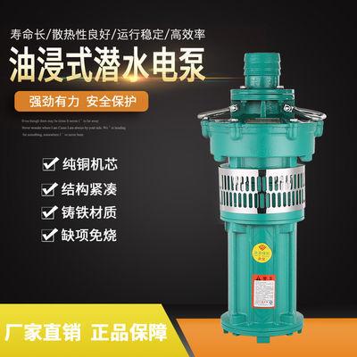 上海人民大流量QY充油油浸泵喷泉潜水泵农用灌溉工业深井泵抽水泵
