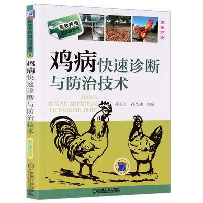 高效养殖鸡病快速诊断与防治技术 养鸡书籍鸡养殖大全书籍 彩色