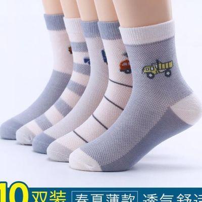 儿童袜子薄款网面全棉新款新生儿中筒儿童袜子男小学生丝袜小孩
