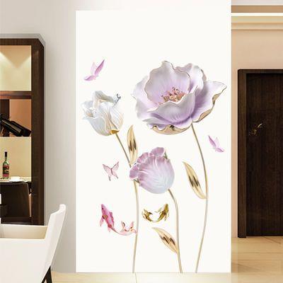 自粘贴墙纸卧室电视房间装饰床头背景壁画温馨厅客机石线条直图角